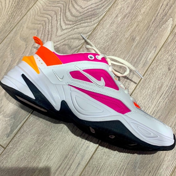 Nike M2K Tekno White Laser and Fuschia Sneakers